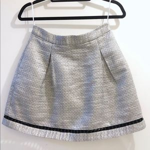 Finders Keepers gray metallic mini skirt